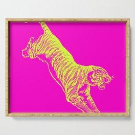 Tiger Running Serving Tray