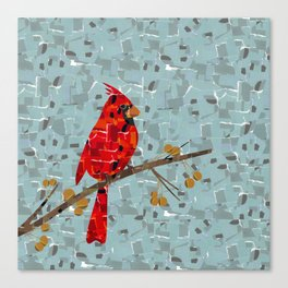 Red Cardinal Collage Canvas Print