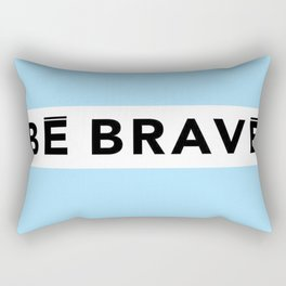 BE BRAVE Summer COLLECTION Blue Rectangular Pillow