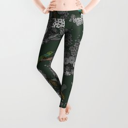 Hummingbirds and Bees (don't let them fade away) Leggings