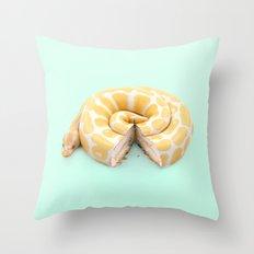 SNCAKE Throw Pillow
