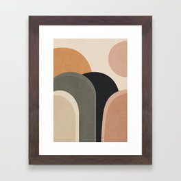 abstract minimal sunrise Framed Art Print