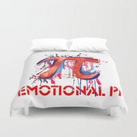 pi Duvet Covers featuring Emotional Pi by Vi Sion