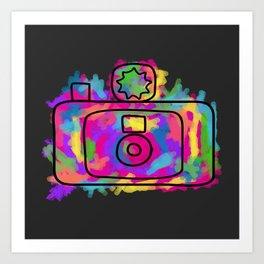 Colorful Camera Art Print