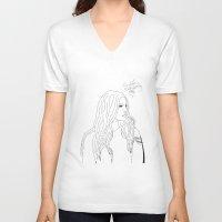 lana V-neck T-shirts featuring Lana by Shaina F.
