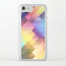 Geometric Blurred Pastels Clear iPhone Case