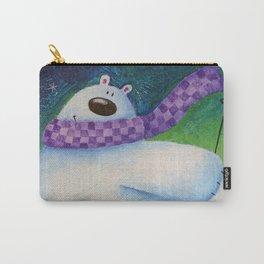 Skiing Polar Bear Carry-All Pouch