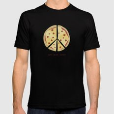 Give Pizza Chance Mens Fitted Tee Black LARGE