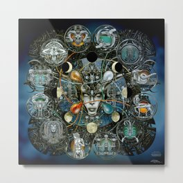 """Astrological Mechanism - Zodiac"" Metal Print"