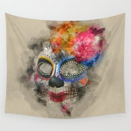 Watercolour Mask Wall Tapestry