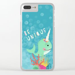 Narwhal Be Unique Clear iPhone Case