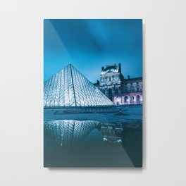 Louvre Museum Paris, France (Color) Metal Print