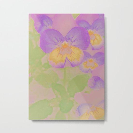 Pansies, The Earth Laughs In Flowers Metal Print