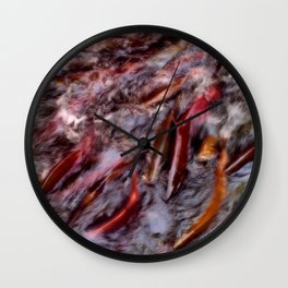 A bind of salmon Wall Clock