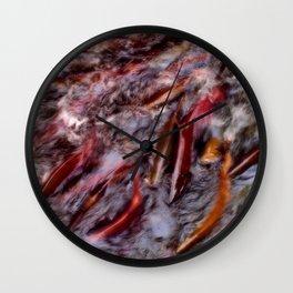 A bind of salmon Wall Clock