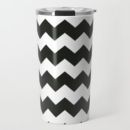 Black & white chevron pattern Travel Mug