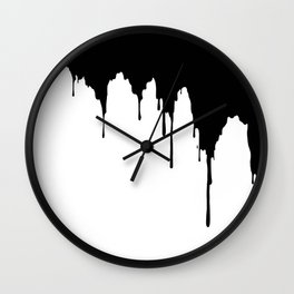 Dripping Ink Wall Clock