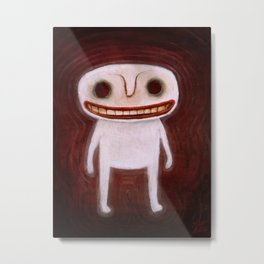 Smily Ghost Metal Print