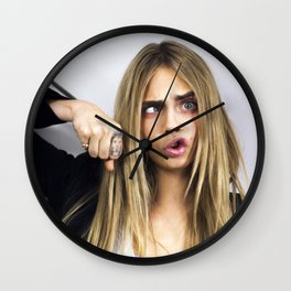 Funny Cara Wall Clock