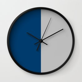 Ateneo Blue and Bright Grey Color Combination. Minimal Style. Solid Color. Wall Clock