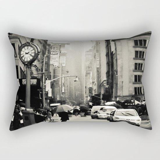 New York City - 5th Avenue in the Rain Rectangular Pillow