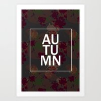 Dark autumn Art Print
