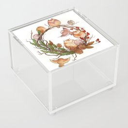 Christmas Owls Acrylic Box