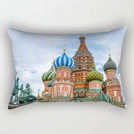 Saint Basil's Cathedral (Red Square in Moscow) Rectangular Pillow