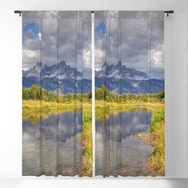 The Grand Tetons Autumn Panorama Blackout Curtain