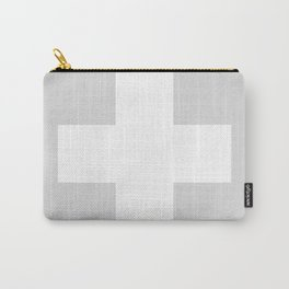 Swiss Cross Silver Carry-All Pouch