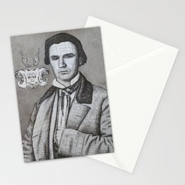 Portrait of John Neely Bryan, Founder of Dallas, Texas Stationery Cards