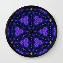 Cosmic Dreams seamless pattern Wall Clock