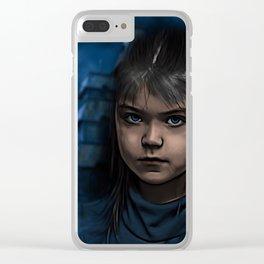 blu horror Clear iPhone Case