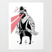 the dude Art Prints featuring dude by Dávid Kurňavka