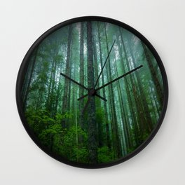 Misty Mountain Forest Wall Clock