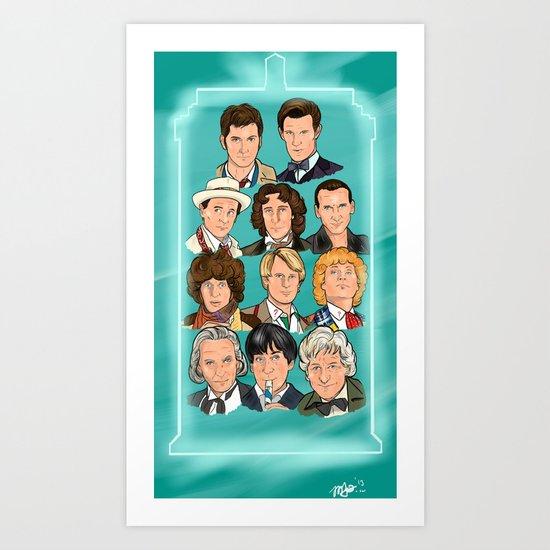 The Eleven Doctors Art Print
