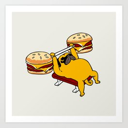 Double Cheeseburger Monday Art Print