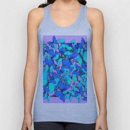 Blue Butterflies Pink Melange Art Unisex Tank Top