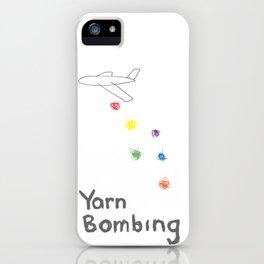 yarn bombing iPhone Case