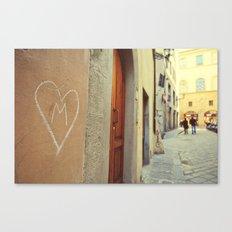 M - Heart  Canvas Print