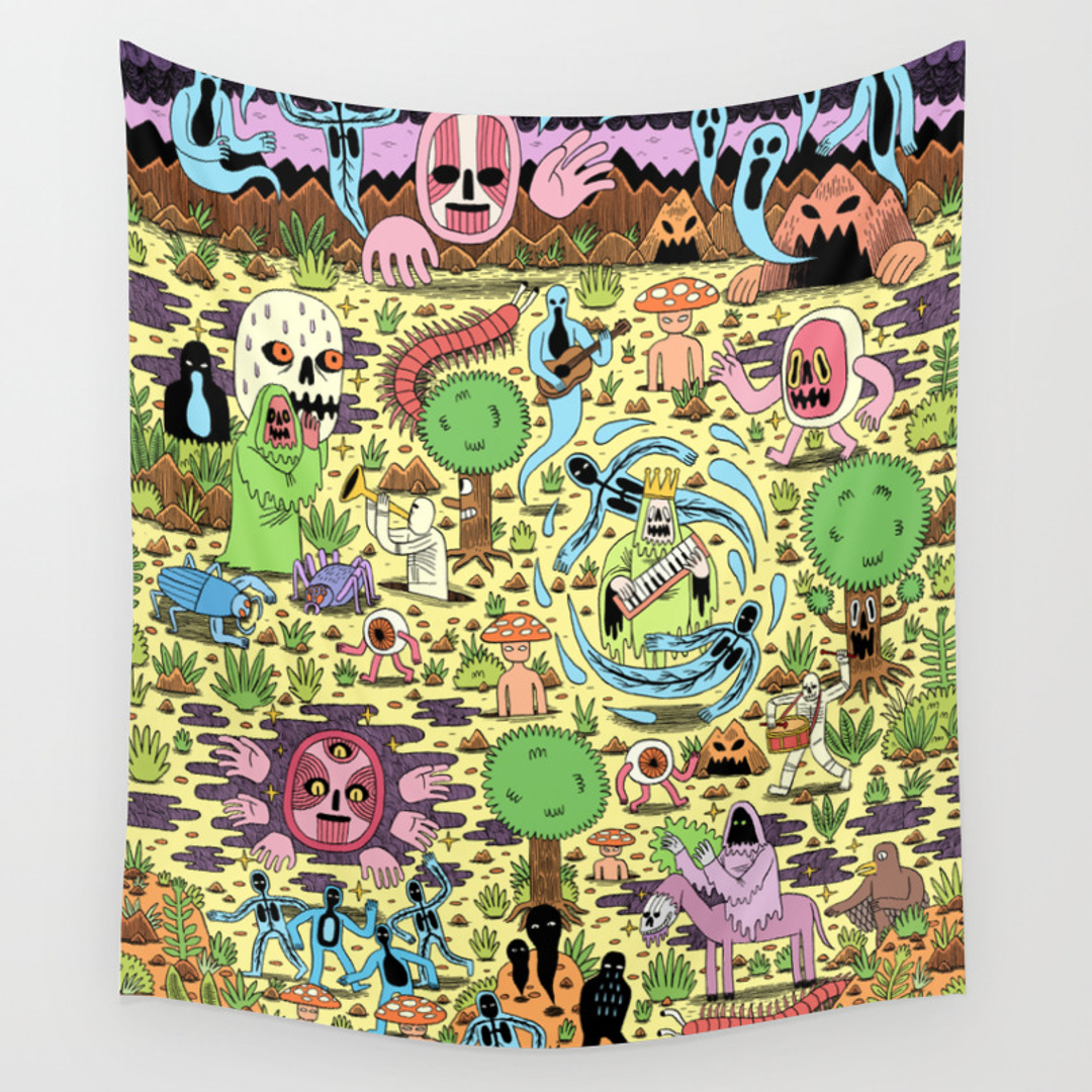 Landscape, Painting and Weird Wall Tapestries | Society6