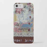 angel wings iPhone & iPod Cases featuring Angel wings  by drskippyart