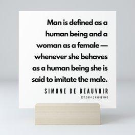 11      Simone De Beauvoir Quotes   190605 Mini Art Print