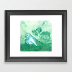 Origami Bird 2 Framed Art Print