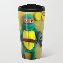 Orange mask turtle Travel Mug