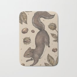The Squirrel and Chestnuts Bath Mat