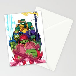 Rise of the new Turtles Stationery Cards