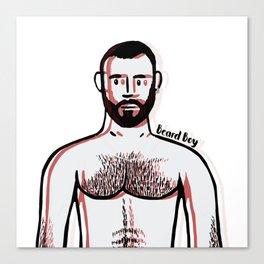 Beard Boy: Davo Red Canvas Print
