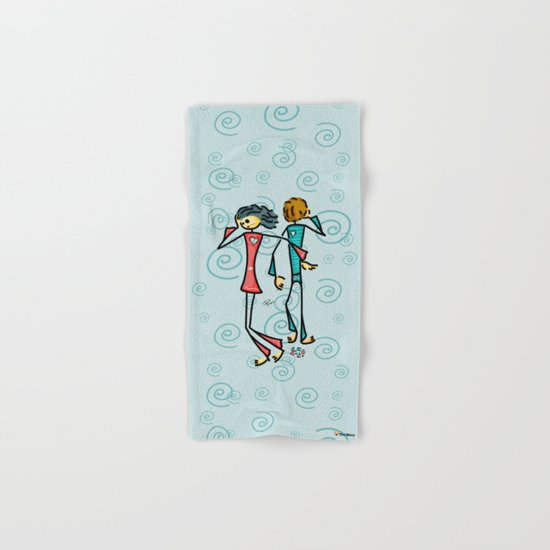 Broken Lovers Hand & Bath Towel