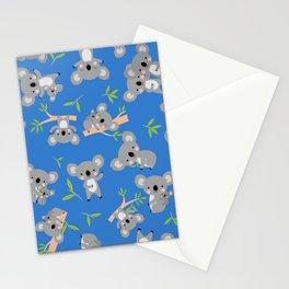 Koala Cute Kids Blue Koalas Animal Pattern Stationery Cards